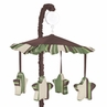 Green and Brown Ethan Modern Musical Baby Crib Mobile by Sweet Jojo Designs