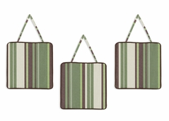 Green and Brown Ethan Modern Wall Hanging Accessories by Sweet Jojo Designs