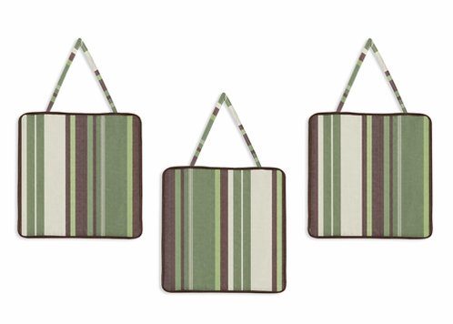 Green and Brown Ethan Modern Wall Hanging Accessories by Sweet Jojo Designs - Click to enlarge