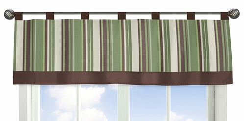Green and Brown Ethan Modern Window Valance by Sweet Jojo Designs - Click to enlarge