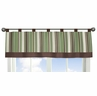 Green and Brown Ethan Modern Window Valance by Sweet Jojo Designs