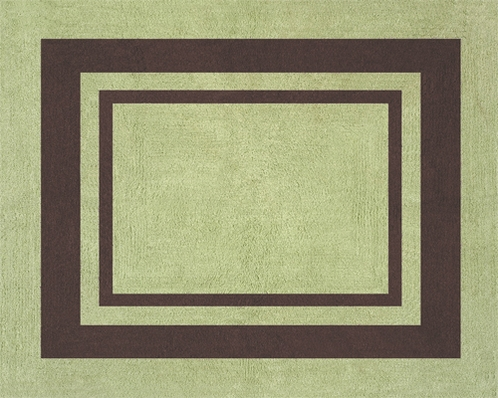 Green and Brown Hotel Accent Floor Rug - Click to enlarge