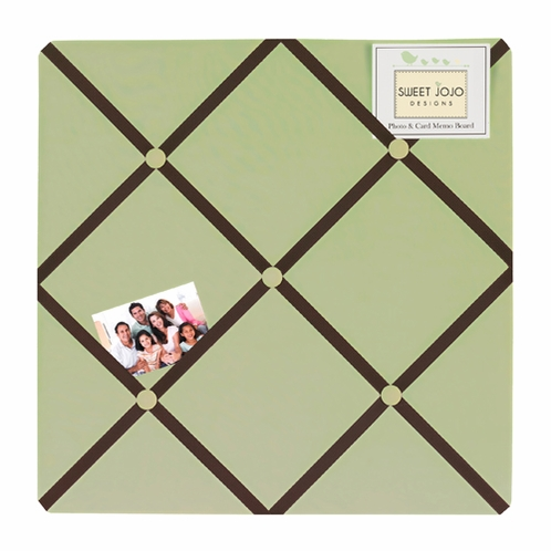 Green and Brown Hotel Fabric Memory/Memo Photo Bulletin Board - Click to enlarge