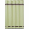 Green and Brown Hotel Kids Bathroom Fabric Bath Shower Curtain
