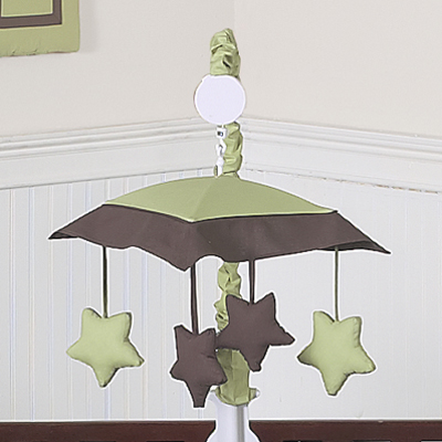 Green and Brown Hotel Musical Baby Crib Mobile by Sweet Jojo Designs - Click to enlarge