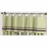 Green and Brown Hotel Window Valance by Sweet Jojo Designs