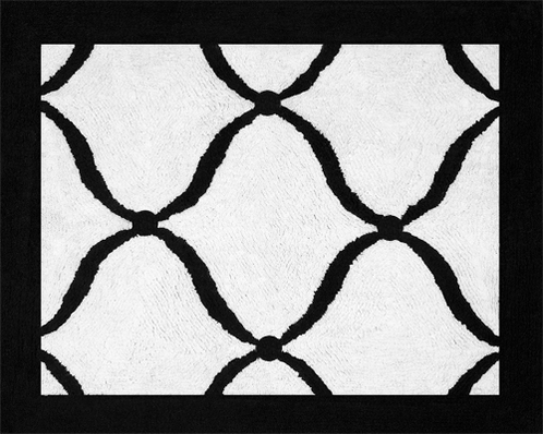 Green, Black and White Princess Accent Floor Rug - Click to enlarge