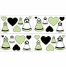 Green, Black and White Princess Baby and Kids Wall Decal Stickers - Set of 4 Sheets