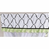 Green, Black and White Princess Girls Window Valance by Sweet Jojo Designs