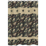 Green Camo Army Camouflage Kids Bathroom Fabric Bath Shower Curtain