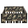 Green Camo Army Military Camouflage Baby Crib Side Rail Guard Covers by Sweet Jojo Designs - Set of 2
