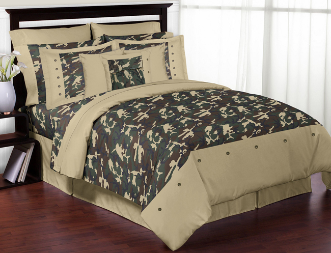 Green Camo Army Military Camouflage Lamp Shade By Sweet Jojo Designs Only  $27.99