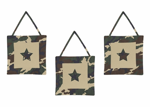 Green Camo Army Military Camouflage Wall Hanging Accessories by Sweet Jojo Designs - Click to enlarge