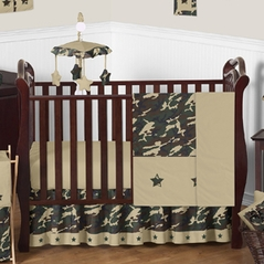 Green Camo Baby Bedding 11pc Crib Set