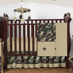 Green Camo Baby Bedding - 4pc Crib Set