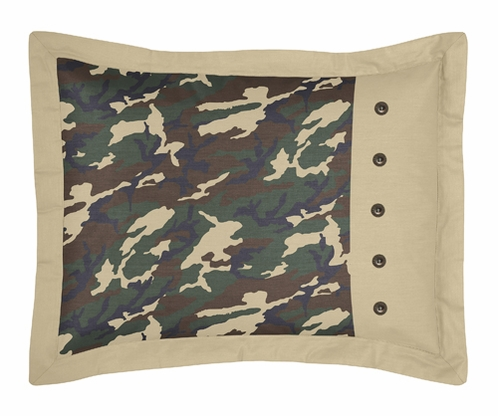 Green Camo Camouflage Pillow Sham - Click to enlarge