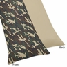 Green Camo Full Length Double Zippered Body Pillow Case Cover by Sweet Jojo Designs