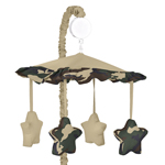 Green Camo Military Army Camouflage Musical Crib Mobile by Sweet Jojo Designs