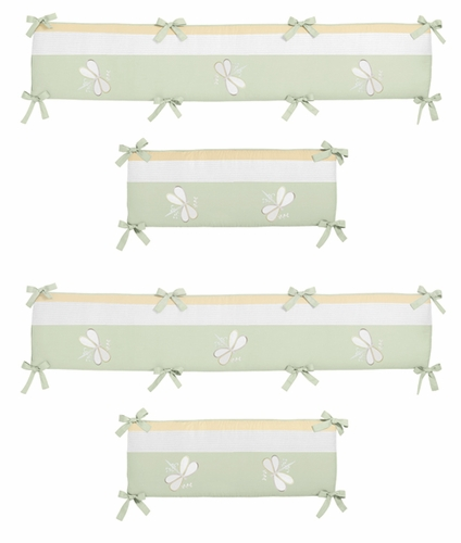 Green Dragonfly Dreams Collection Crib Bumper by Sweet Jojo Designs - Click to enlarge
