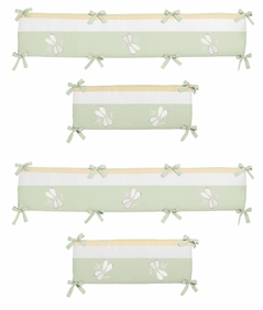 Green Dragonfly Dreams Collection Crib Bumper by Sweet Jojo Designs