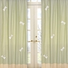 Green Dragonfly Dreams Window Treatment Panels - Set of 2