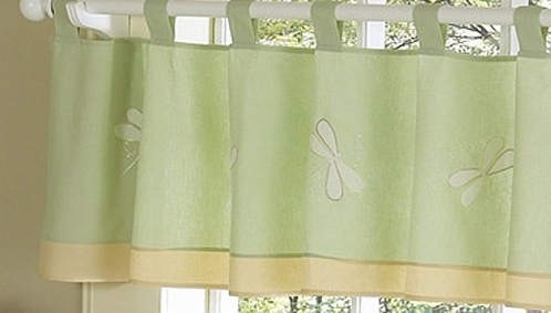 Green Dragonfly Dreams Window Valance - Click to enlarge