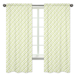 Green Plaid Window Treatment Panels for Leap Frog Collection by Sweet Jojo Designs - Set of 2