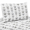 Grey and White Arrow Queen Sheet Set for Woodsy Collection by Sweet Jojo Designs - 4 piece set