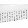 Grey and White Boy or Girl Unisex Pleated Crib Bed Skirt Dust Ruffle for Woodland Arrow Collection by Sweet Jojo Designs