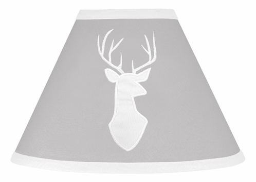 Grey and White Deer Lamp Shade for Woodsy Collection by Sweet Jojo Designs - Click to enlarge