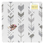 Grey and White Fabric Memory/Memo Photo Bulletin Board for Woodland Arrow Collection by Sweet Jojo Designs