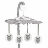 Grey and White Musical Baby Crib Mobile for Woodland Arrow Collection by Sweet Jojo Designs