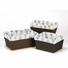 Grey and White One Size Fits Most Basket Liners for Woodland Arrow Collection by Sweet Jojo Designs - Set of 3