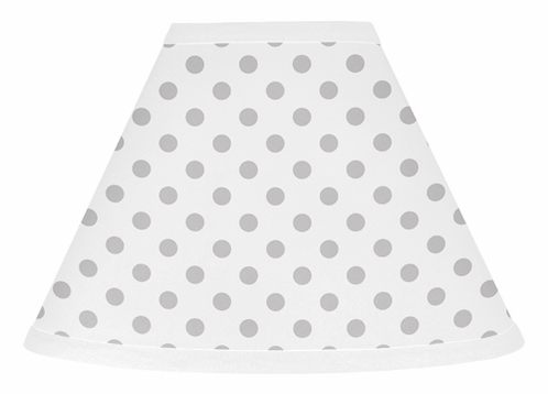 Grey and white polka dot lamp shade for watercolor floral collection grey and white polka dot lamp shade for watercolor floral collection by sweet jojo designs aloadofball Choice Image