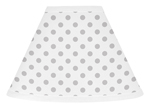Grey and White Polka Dot Lamp Shade for Watercolor Floral Collection by Sweet Jojo Designs