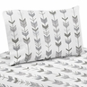 Grey and White Queen Sheet Set for Woodland Arrow Collection by Sweet Jojo Designs - 4 piece set