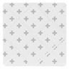 Grey and White Swiss Cross Fabric Memory/Memo Photo Bulletin Board for Woodsy Collection by Sweet Jojo Designs
