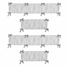 Grey and White Wood Grain Baby Crib Bumper Pad for Woodsy Collection by Sweet Jojo Designs