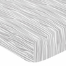 Grey and White Wood Grain Baby or Toddler Fitted Crib Sheet for Woodsy Collection by Sweet Jojo Designs