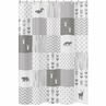 Grey and White Woodland Bathroom Fabric Bath Shower Curtain for Woodsy Deer Collection by Sweet Jojo Designs