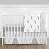 Grey and White Woodland Deer Baby Bedding - 11pc Boys Crib Set by Sweet Jojo Designs
