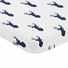 Navy and White Deer Baby Fitted Mini Portable Crib Sheet for Stag Collection by Sweet Jojo Designs