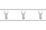 Grey and White Woodland Deer Kids and Baby Modern Wall Paper Border by Sweet Jojo Designs