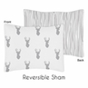 Grey and White Woodland Deer Pillow Sham by Sweet Jojo Designs