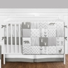 Grey and White Woodsy Deer Boy, Girl, Unisex Baby Crib Bedding Set with Bumper by Sweet Jojo Designs - 9 pieces