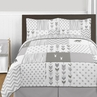 Grey and White Woodsy Deer Boy or Girl Full / Queen Kid Childrens Bedding Comforter Set by Sweet Jojo Designs - 3 pieces