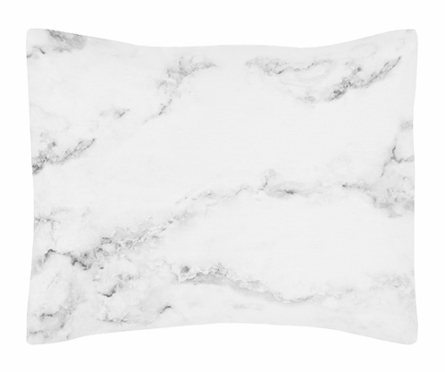Grey, Black and White Marble Pillow Sham by Sweet Jojo Designs - Click to enlarge