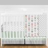 Grey, Coral and Mint Woodland Arrow Baby Bedding - 11pc Girls Crib Set by Sweet Jojo Designs