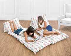 Grey, Coral and Mint Woodland Arrow Collection Kids Teen Floor Pillow Case Lounger Cushion Cover by Sweet Jojo Designs