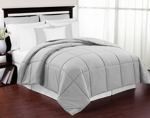 Grey Down-Alternative Comforter<br> Available in Twin & Queen Sizes - Click to enlarge